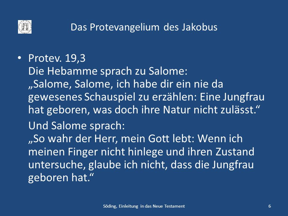 Das Protevangelium des Jakobus