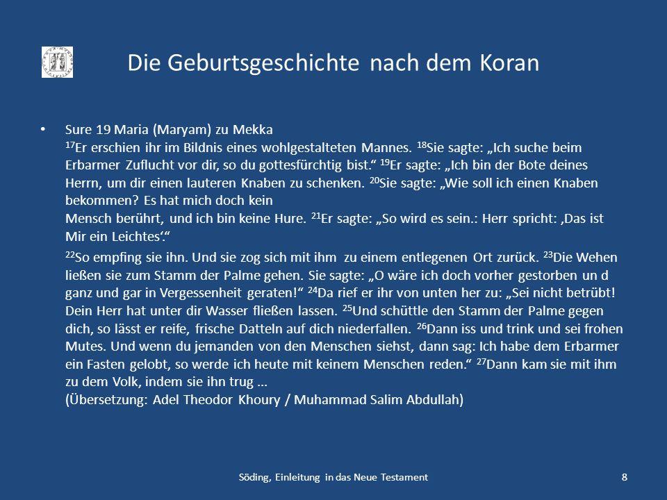 Die Geburtsgeschichte nach dem Koran