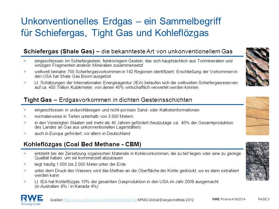Unkonventionelles Erdgas – ein Sammelbegriff für Schiefergas, Tight Gas und Kohleflözgas