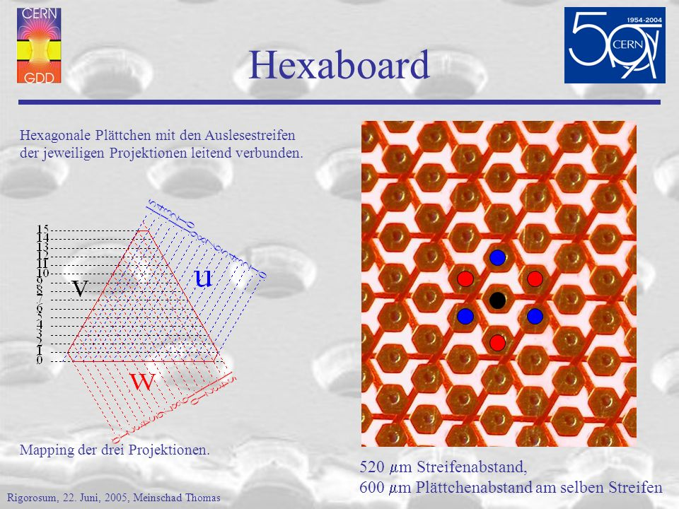 Hexaboard 520 mm Streifenabstand,