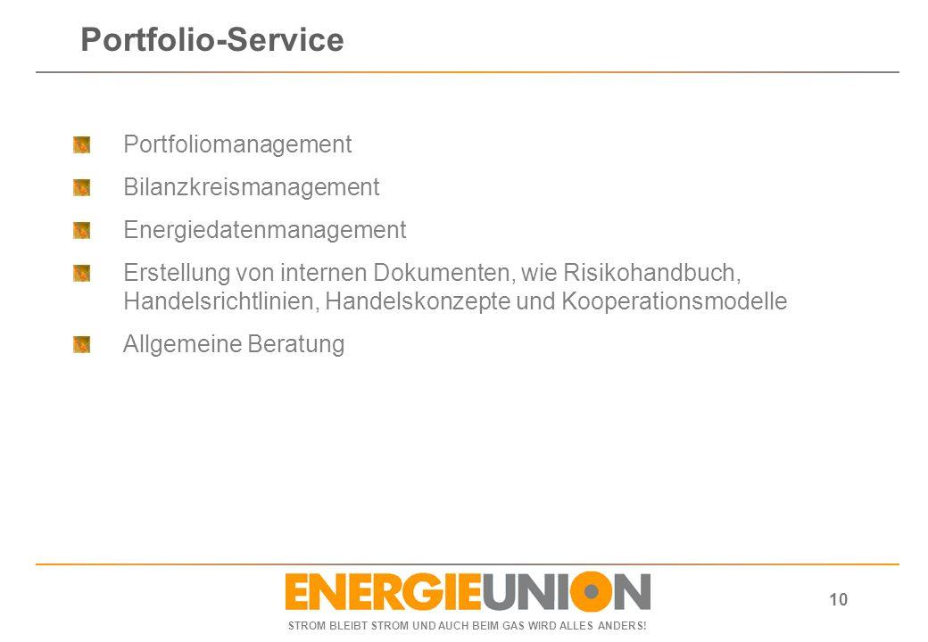 Portfolio-Service Portfoliomanagement Bilanzkreismanagement