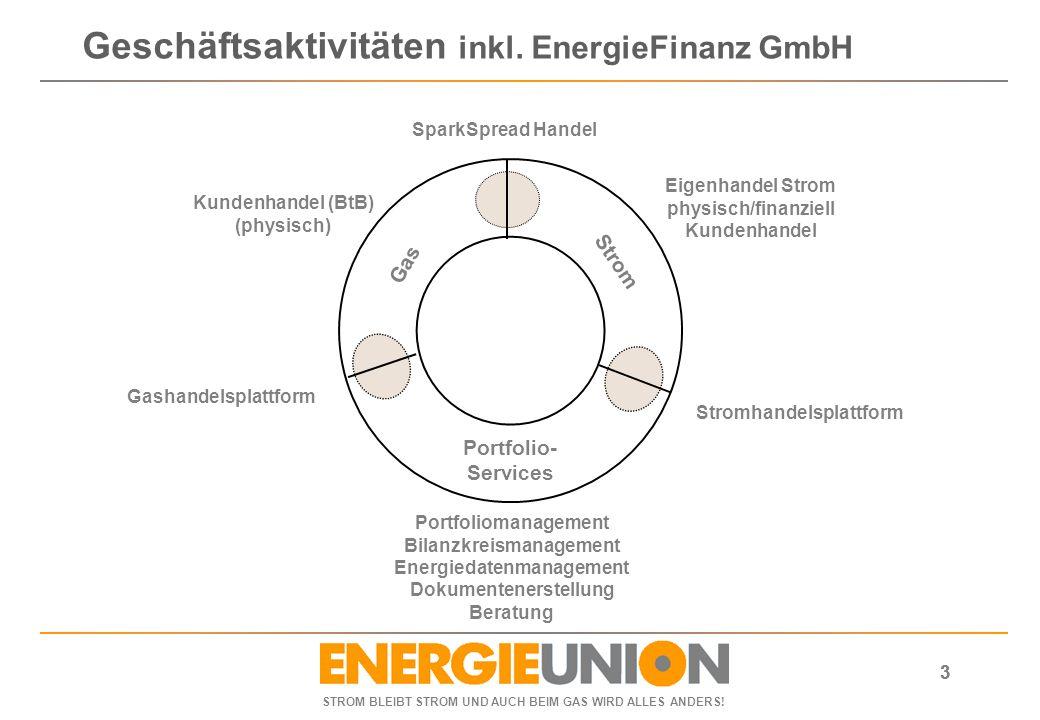 Geschäftsaktivitäten inkl. EnergieFinanz GmbH