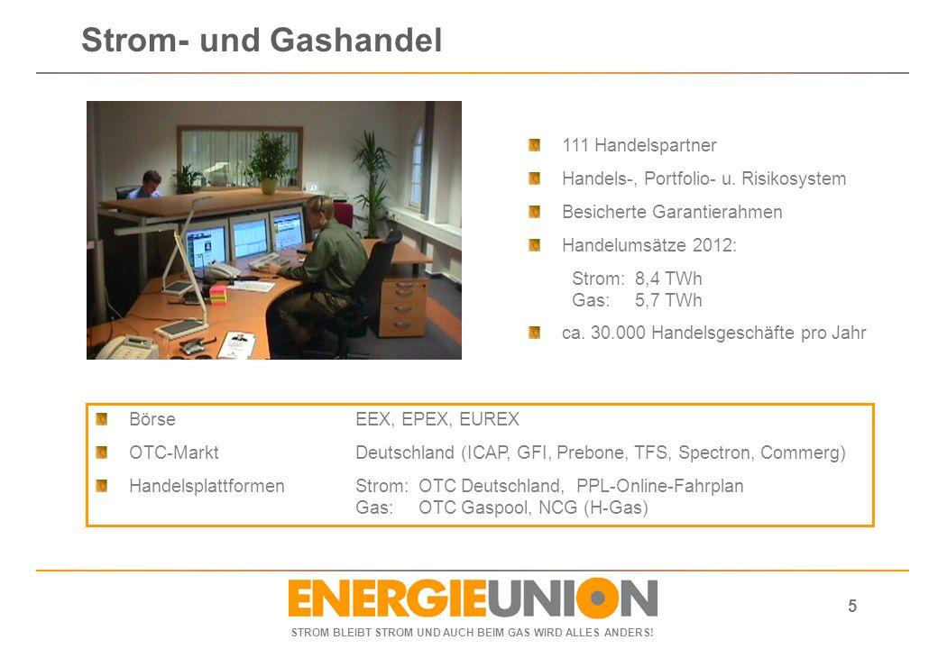 Strom- und Gashandel 111 Handelspartner