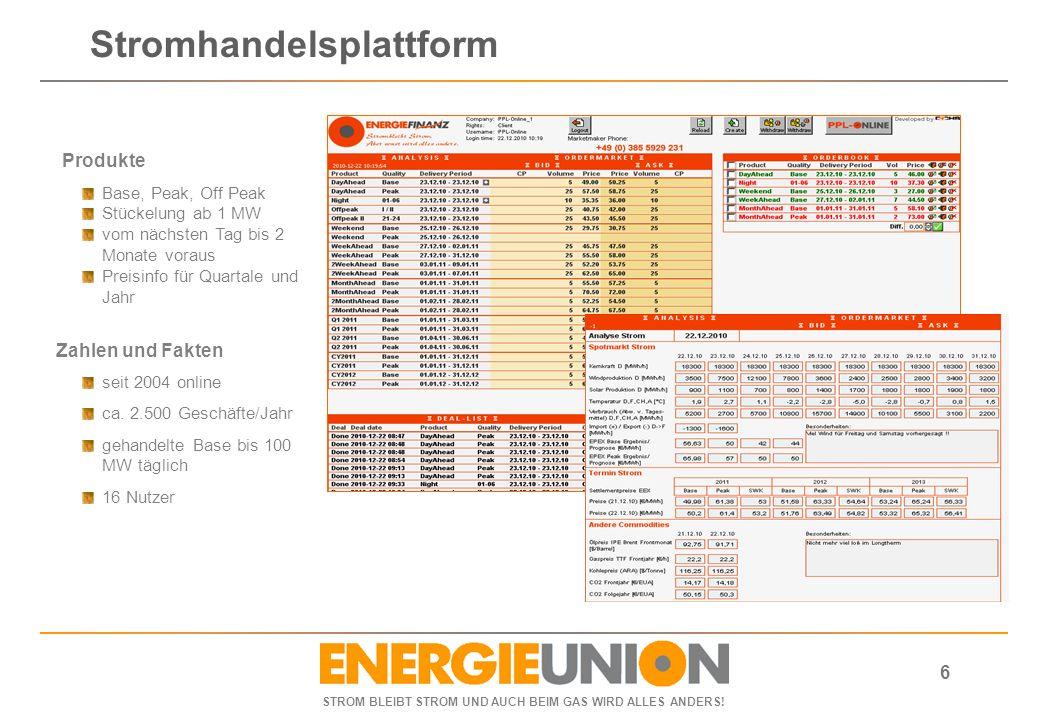 Stromhandelsplattform