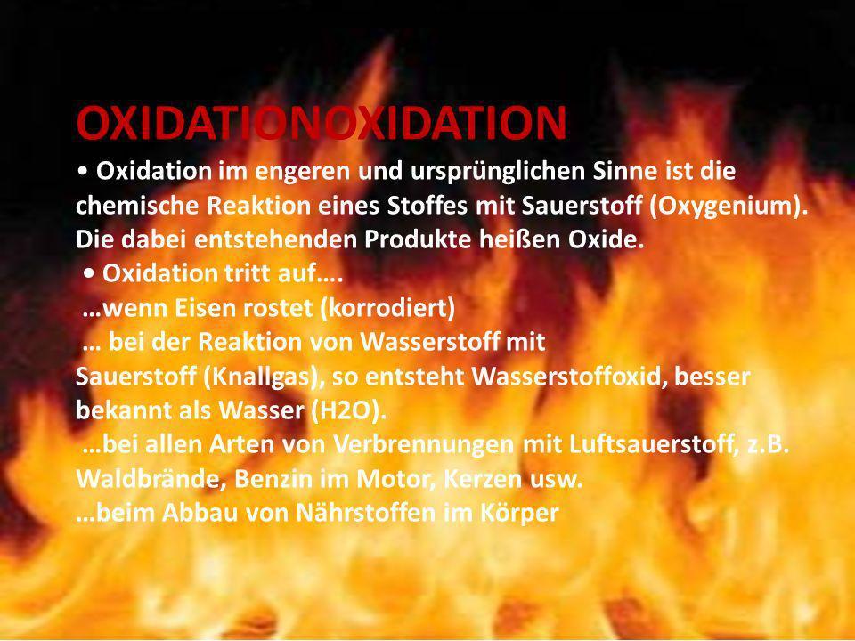 OXIDATIONOXIDATION