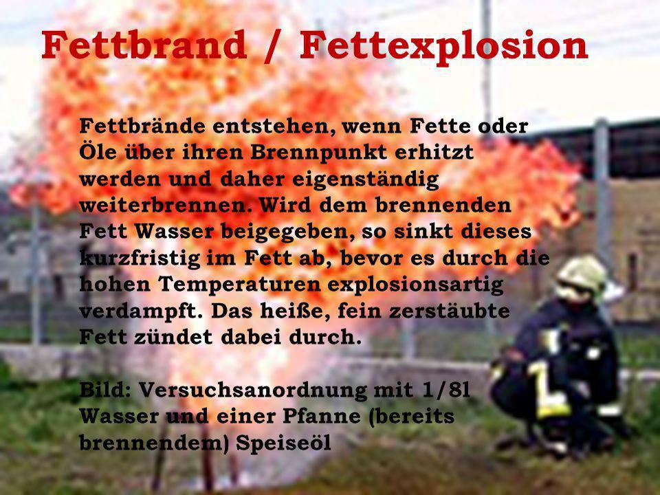 Fettbrand / Fettexplosion