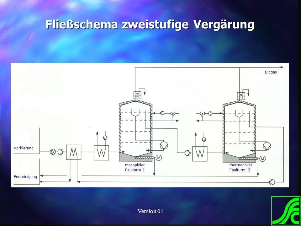 Fließschema zweistufige Vergärung