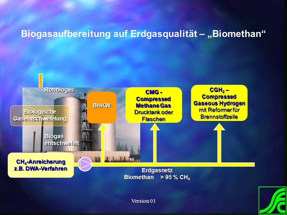 """Biogasaufbereitung auf Erdgasqualität – """"Biomethan"""