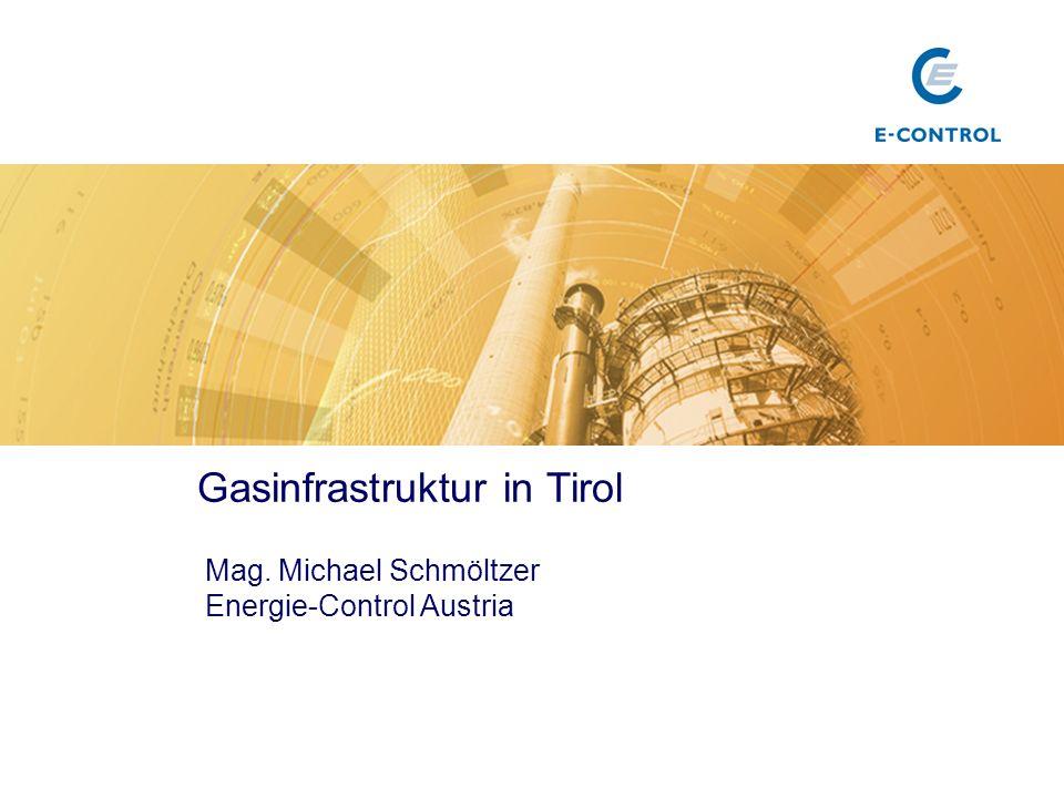 Gasinfrastruktur in Tirol