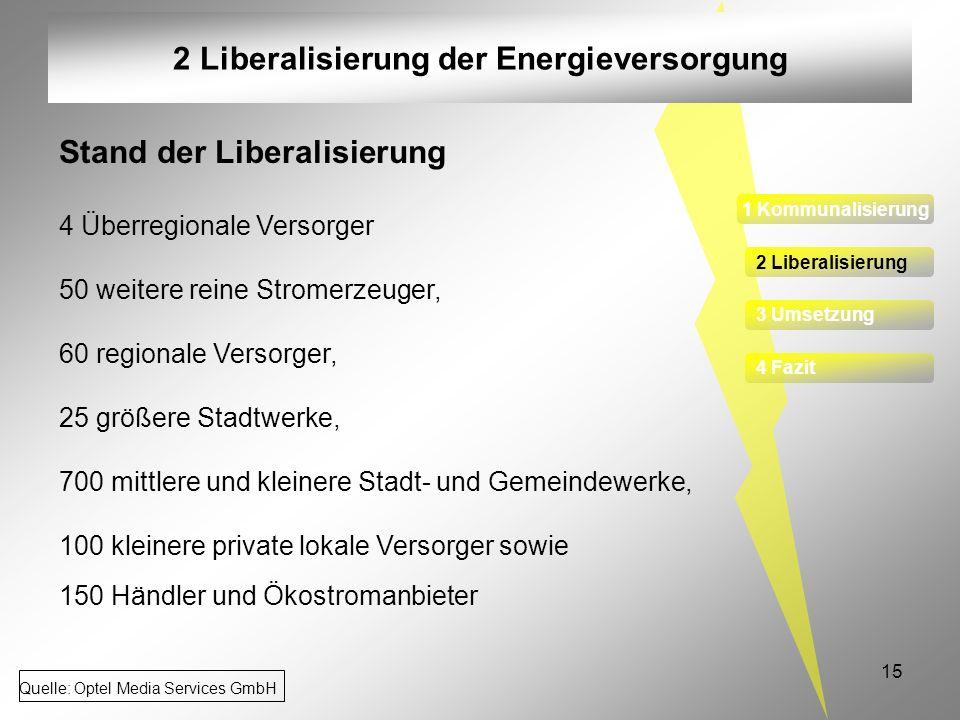 2 Liberalisierung der Energieversorgung