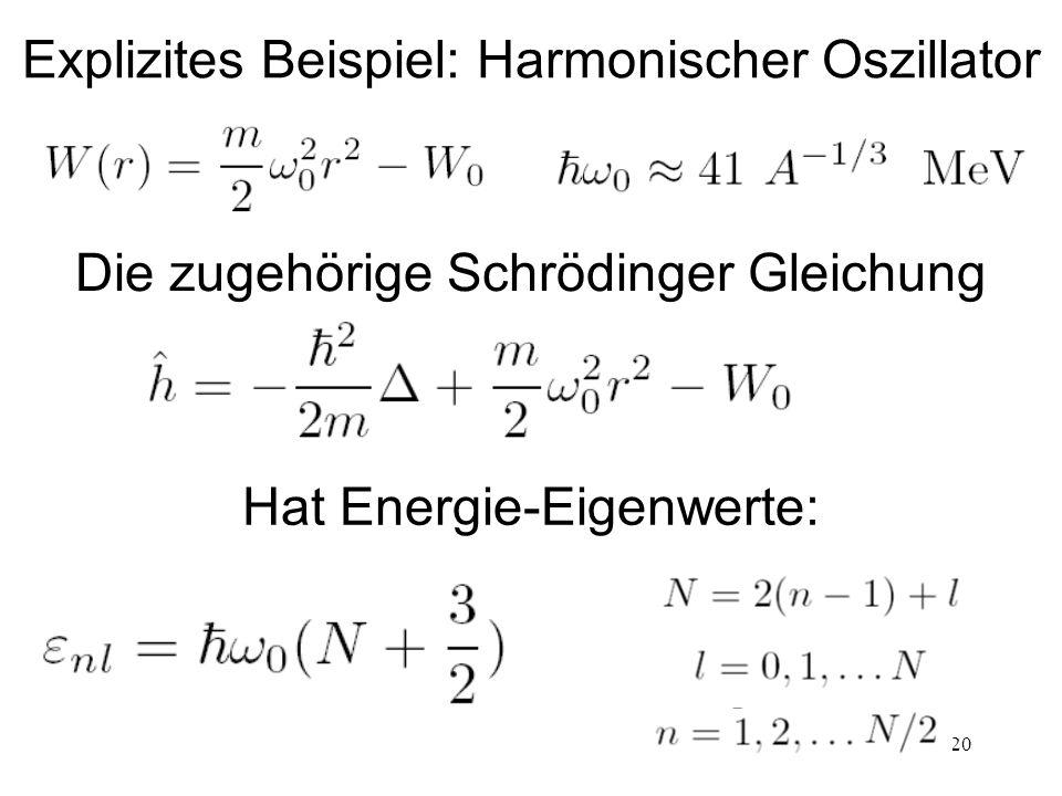 Explizites Beispiel: Harmonischer Oszillator