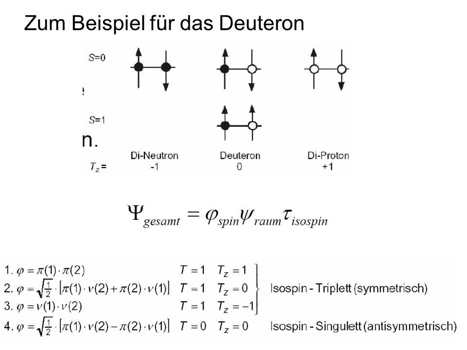 Zum Beispiel für das Deuteron