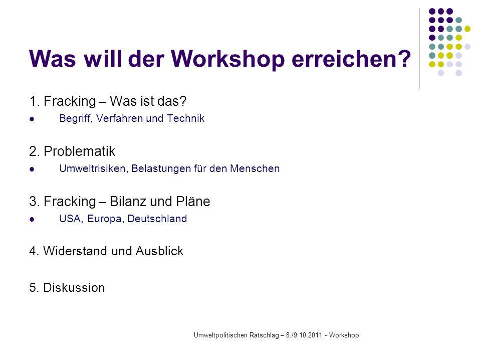 Was will der Workshop erreichen