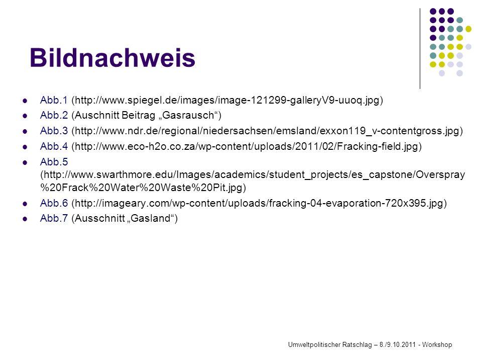 Umweltpolitischer Ratschlag – 8./9.10.2011 - Workshop