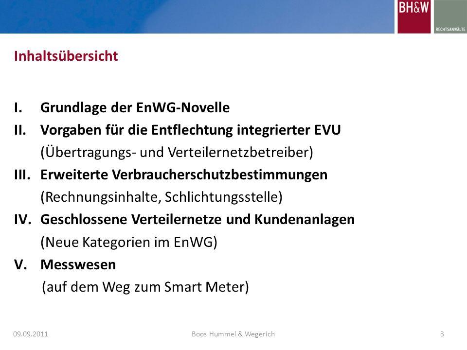 Grundlage der EnWG-Novelle