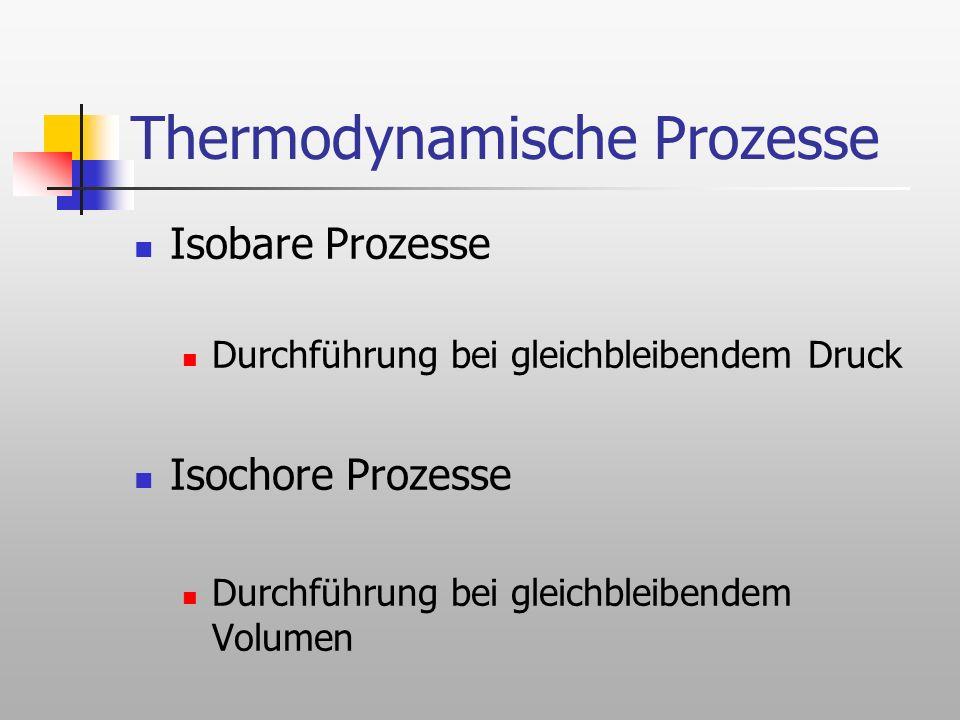 Thermodynamische Prozesse