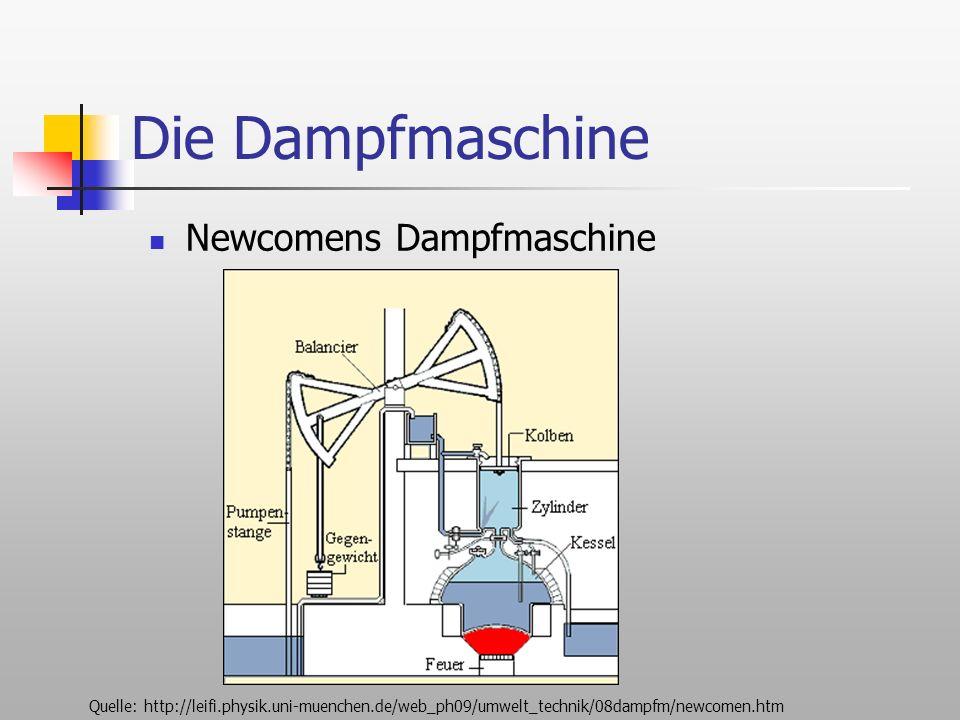 Die Dampfmaschine Newcomens Dampfmaschine