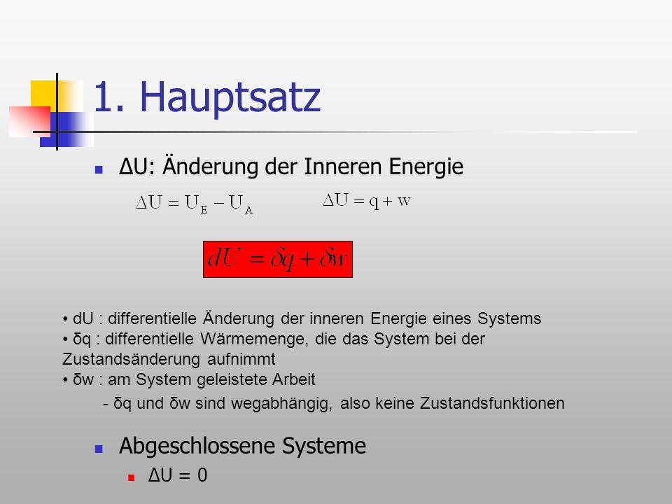 innere energie abgeschlossenes system