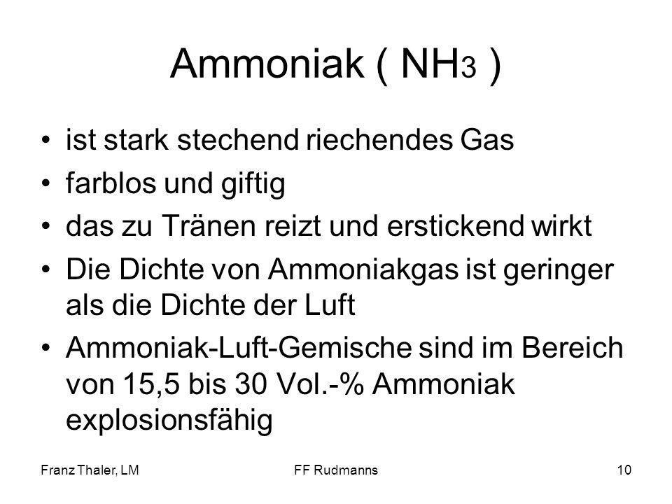 Ammoniak ( NH3 ) ist stark stechend riechendes Gas farblos und giftig