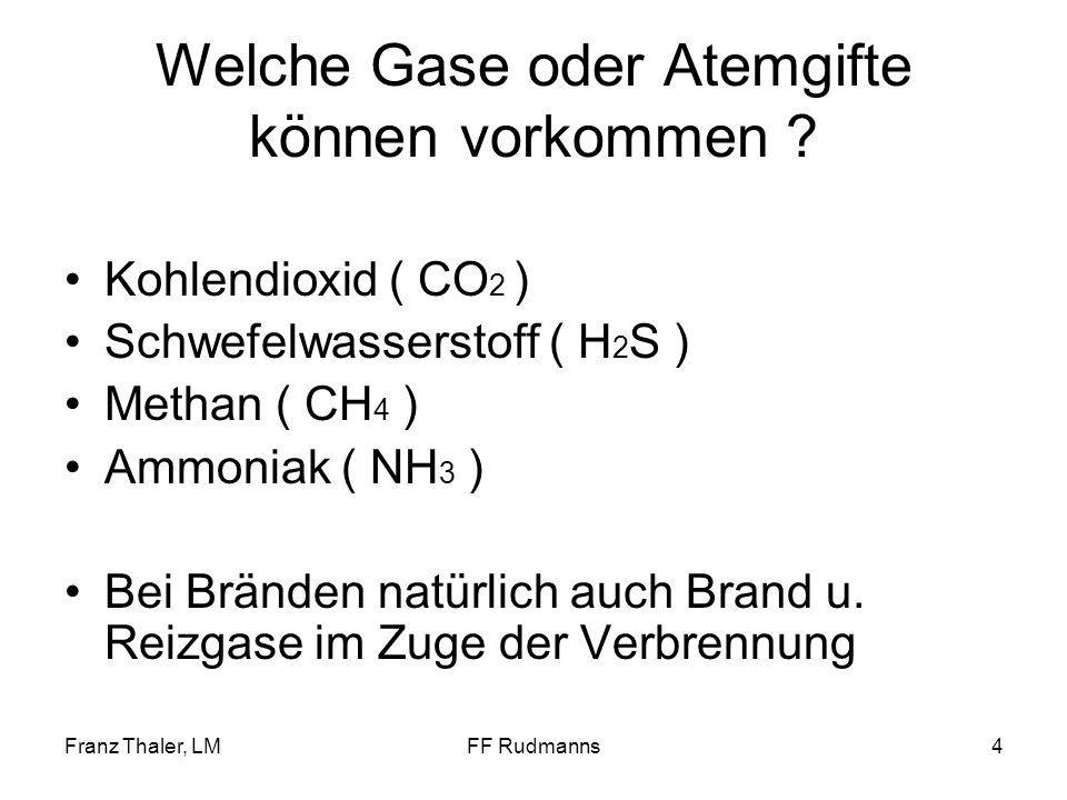 Welche Gase oder Atemgifte können vorkommen