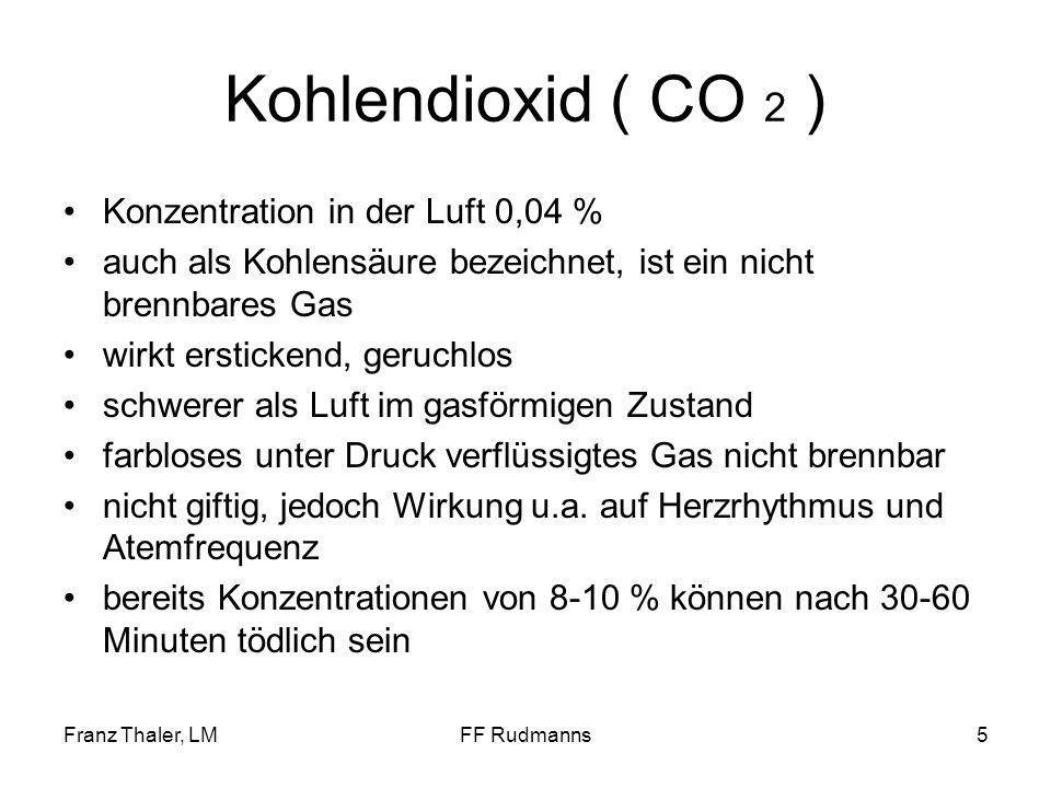 Kohlendioxid ( CO 2 ) Konzentration in der Luft 0,04 %
