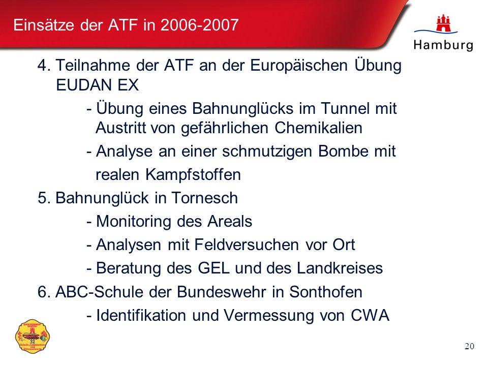 Einsätze der ATF in 2006-20074. Teilnahme der ATF an der Europäischen Übung EUDAN EX.