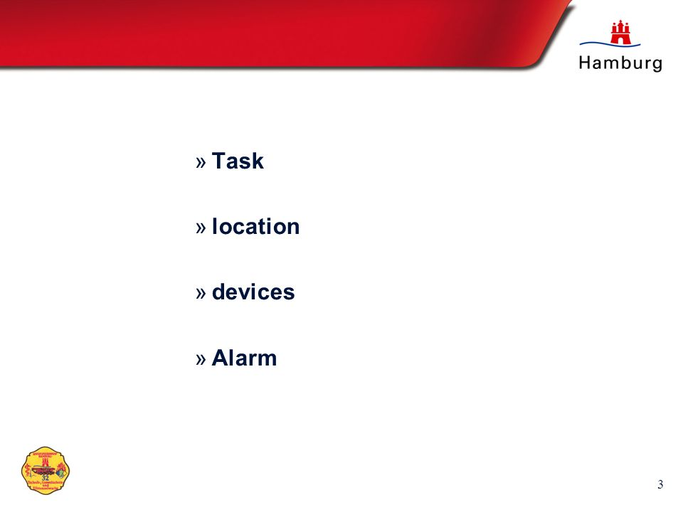 Task location devices Alarm