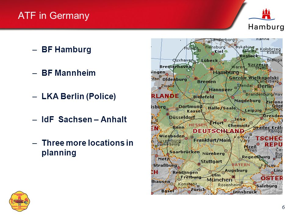 ATF in Germany BF Hamburg BF Mannheim LKA Berlin (Police)