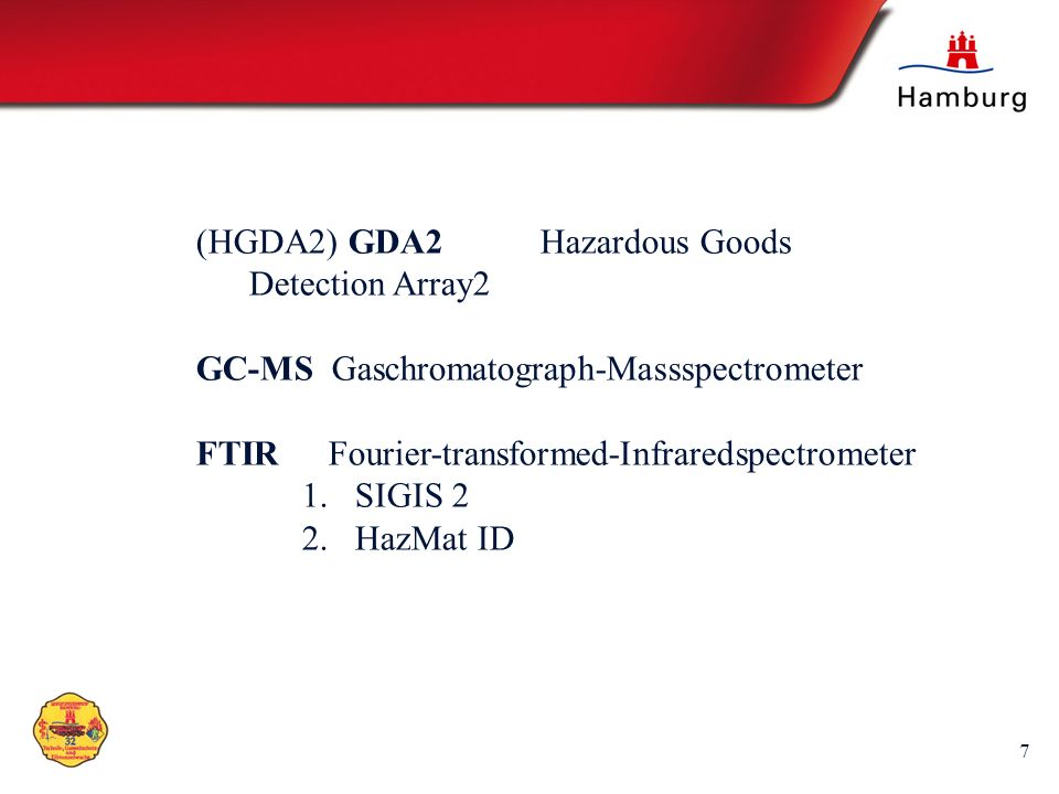 (HGDA2) GDA2 Hazardous Goods Detection Array2