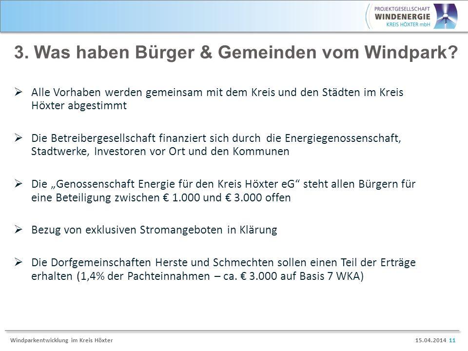 3. Was haben Bürger & Gemeinden vom Windpark