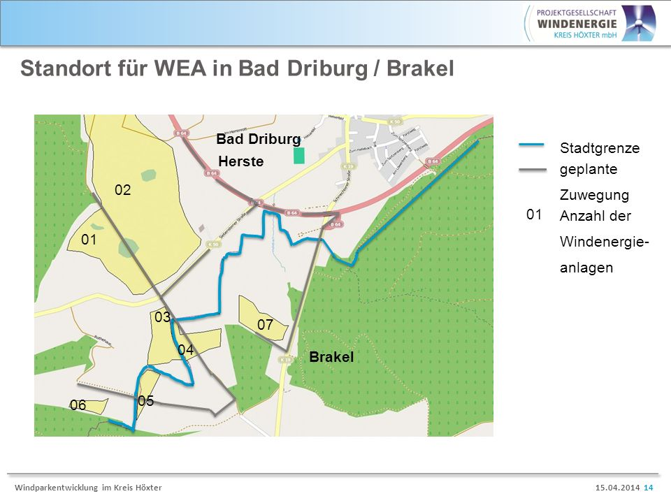Standort für WEA in Bad Driburg / Brakel