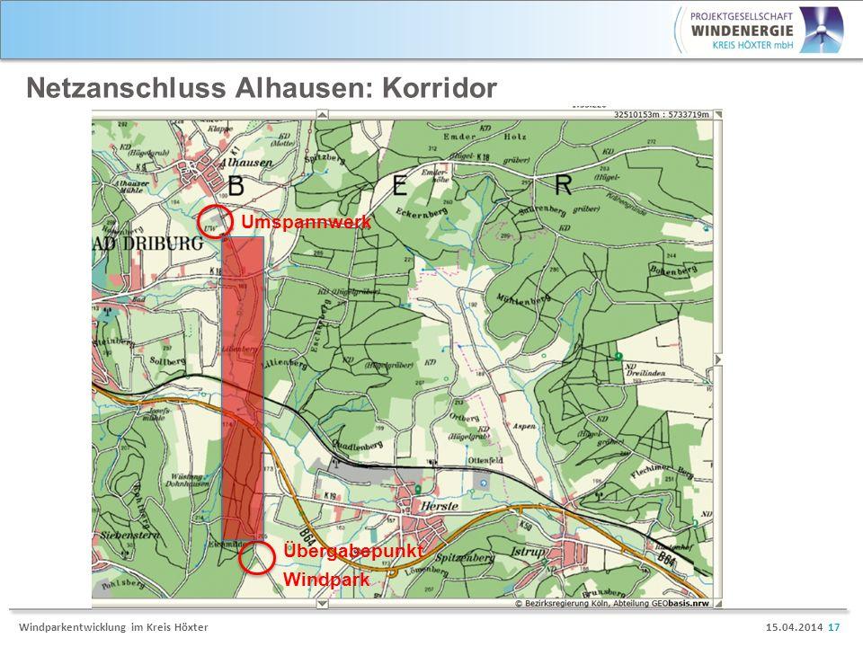 Netzanschluss Alhausen: Korridor