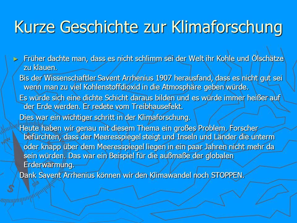 Kurze Geschichte zur Klimaforschung