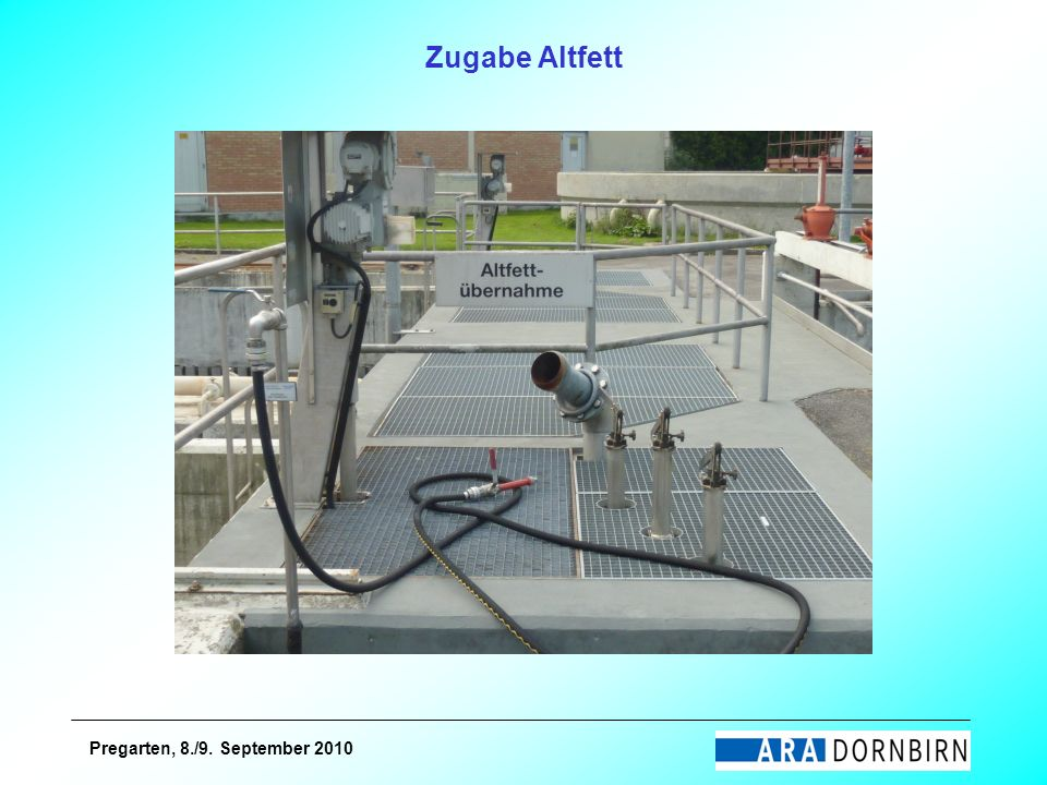 Zugabe Altfett Pregarten, 8./9. September 2010