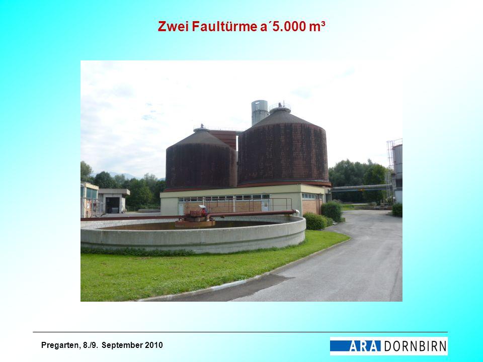 Zwei Faultürme a´5.000 m³ Pregarten, 8./9. September 2010
