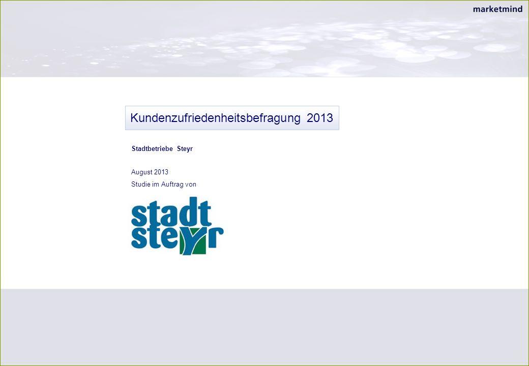 Kundenzufriedenheitsbefragung 2013