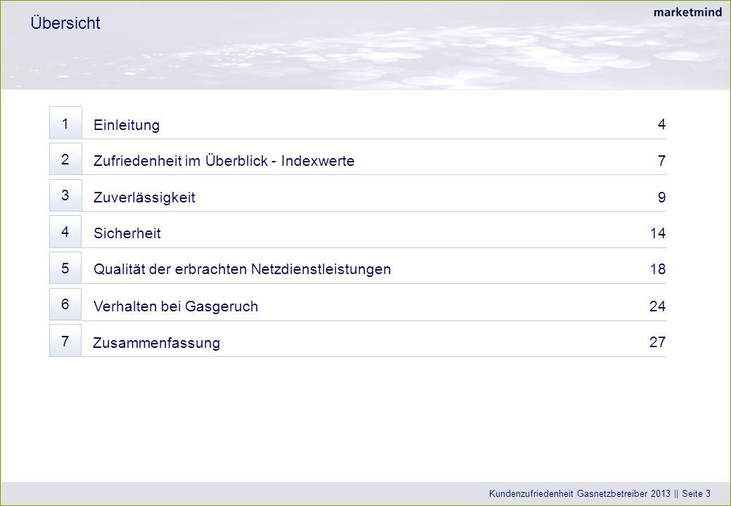 Übersicht 1 Einleitung 4 2 Zufriedenheit im Überblick - Indexwerte 7 3