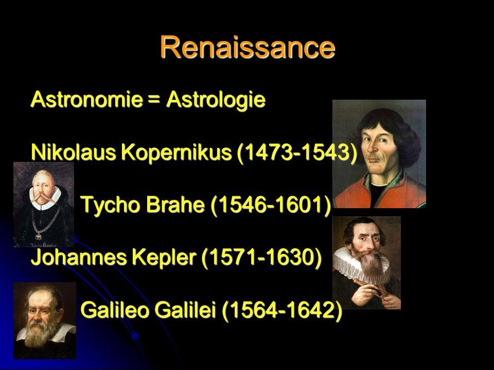 Renaissance Astronomie = Astrologie Nikolaus Kopernikus (1473-1543)