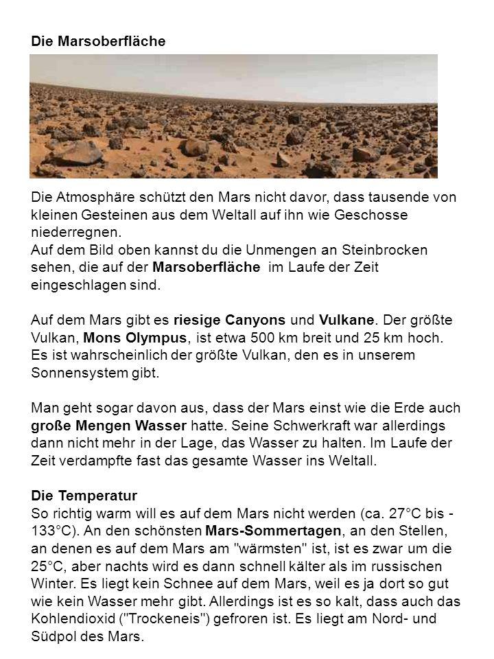 Die Marsoberfläche