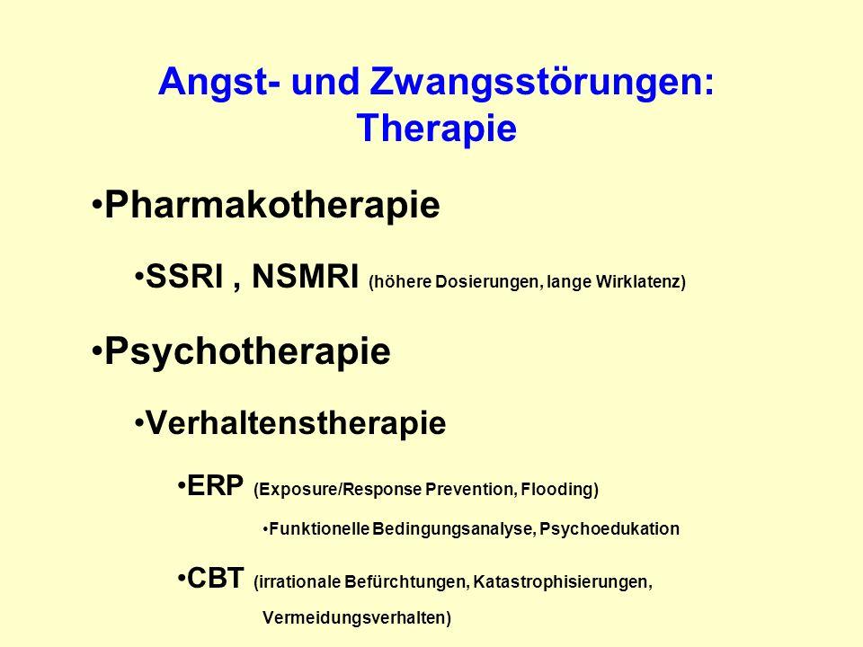 Angst- und Zwangsstörungen: Therapie