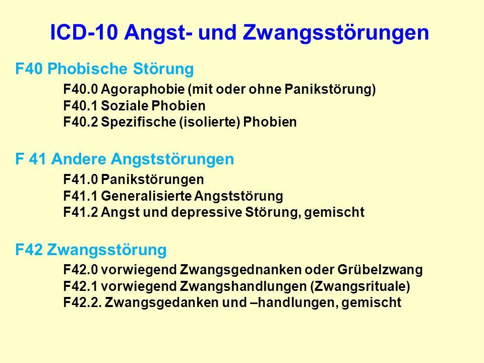 ICD-10 Angst- und Zwangsstörungen