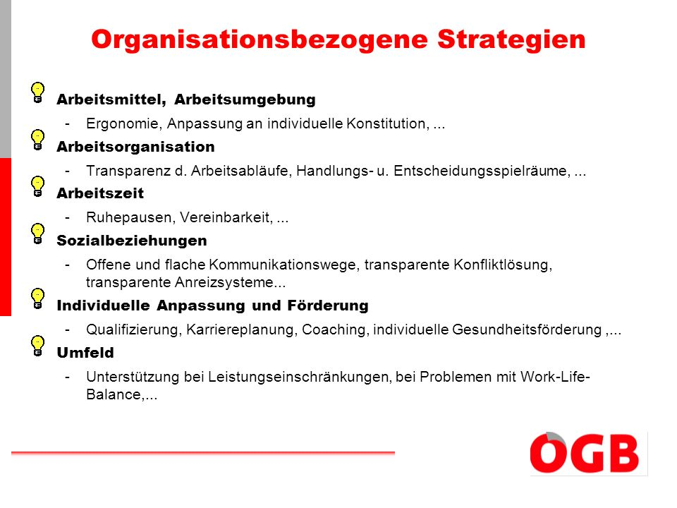 Organisationsbezogene Strategien