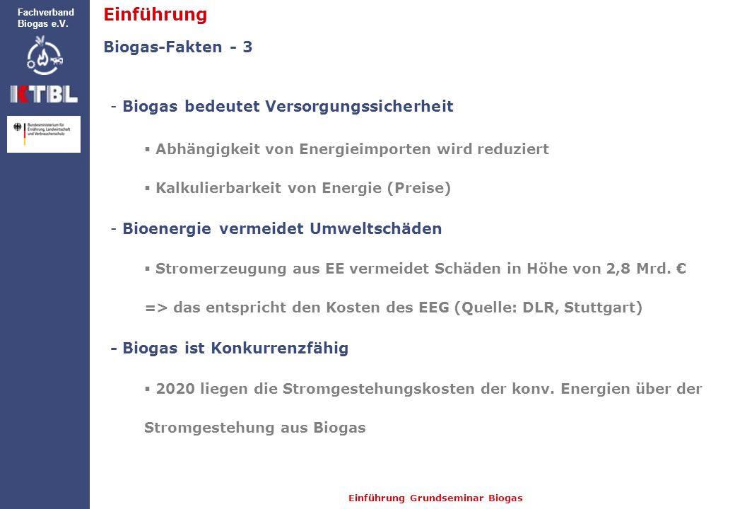 Einführung Biogas-Fakten - 3 Biogas bedeutet Versorgungssicherheit