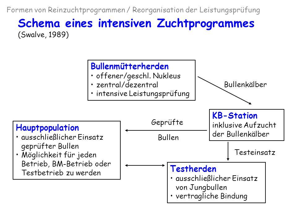 Schema eines intensiven Zuchtprogrammes (Swalve, 1989)