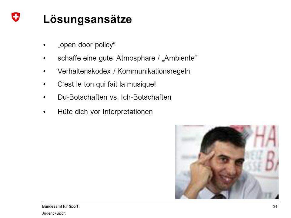 """Lösungsansätze """"open door policy"""