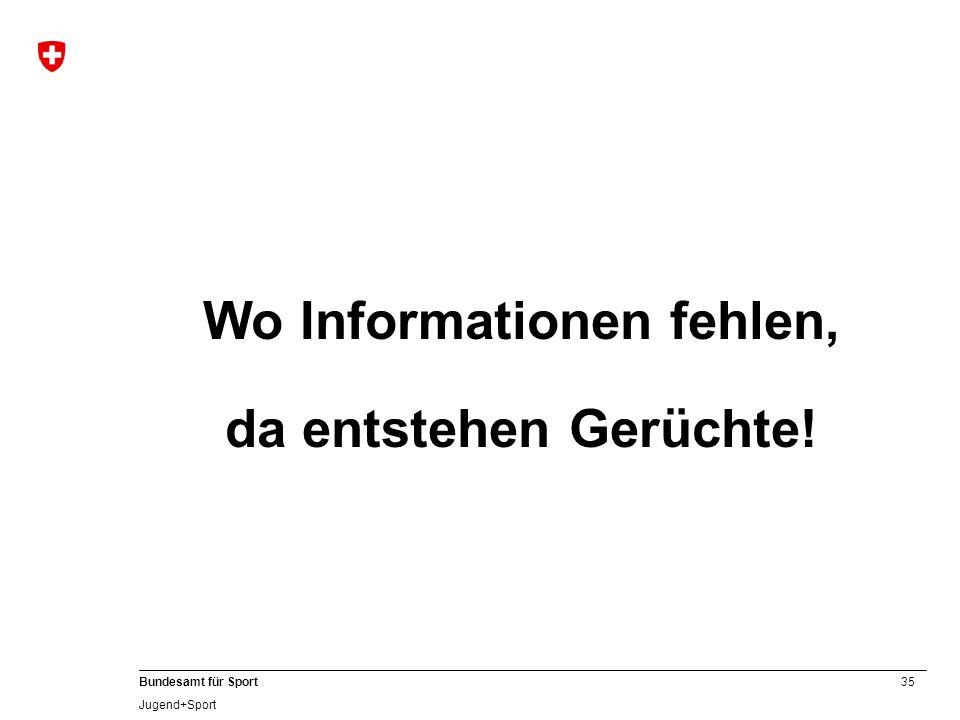 Wo Informationen fehlen,