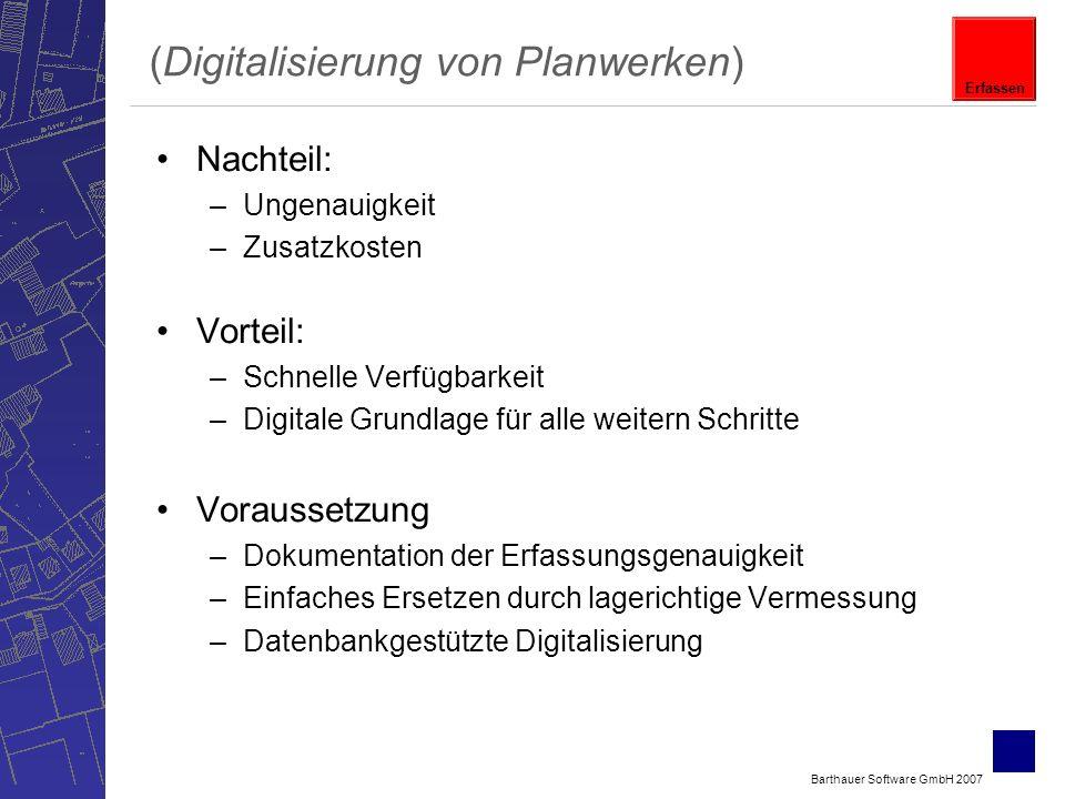 (Digitalisierung von Planwerken)