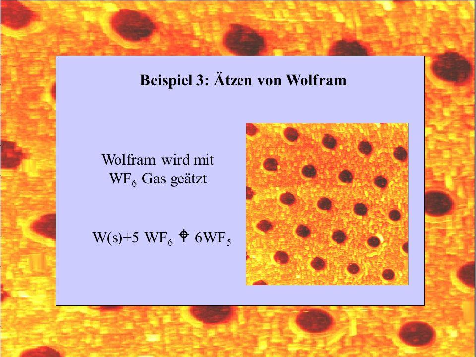 Beispiel 3: Ätzen von Wolfram