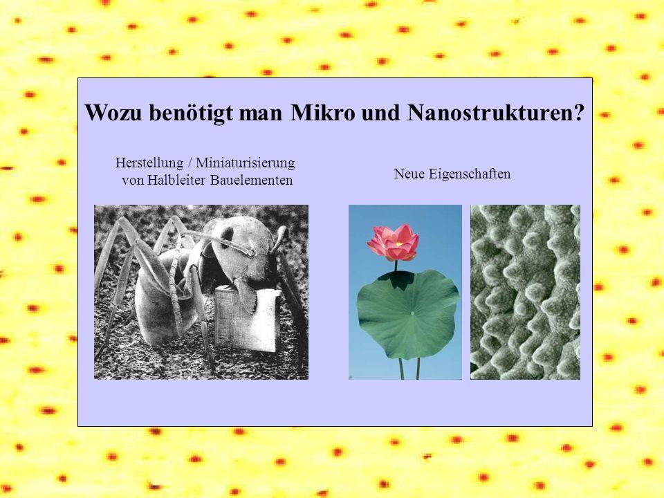 Wozu benötigt man Mikro und Nanostrukturen
