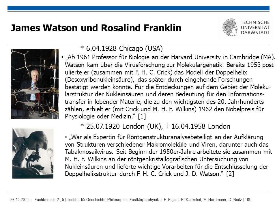 James Watson und Rosalind Franklin